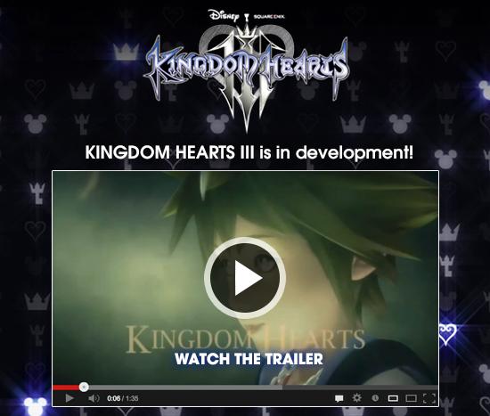 Kingdom Hearts III  is in development - Watch the Trailer